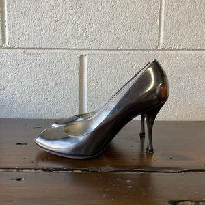 Dolce & Gabbana silver heels